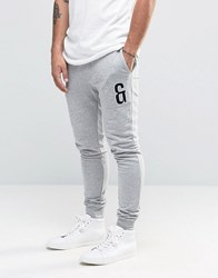 Only And Sons Sweat Joggers With Leg Embroidery Light Grey Melange
