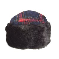 Dents Women S Cossack Hat With Faux Fur Trim Red