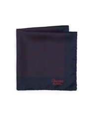 Charvet Silk Pocket Square Navy