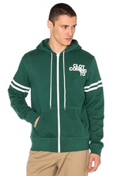 Clot X Revolve Zip Up Hoodie Green