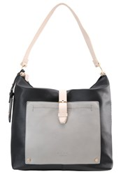 Lydc London Across Body Bag Black Cream Grey