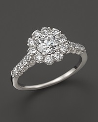 Bloomingdale's Certified Diamond Round Brilliant Cut Cluster Ring In 14K White Gold 1.50 Ct. T.W.