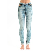 Jena Theo Acid Wash High Waist Jeans Blue