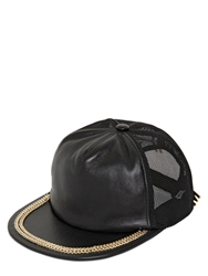 Moschino Leather And Mesh Trucker Hat Black