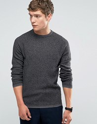 Selected Homme Crew Neck Knit Mid Grey