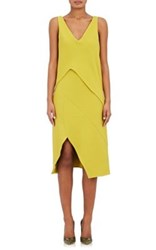 Narciso Rodriguez Women's Asymmetric Shift Dress Light Green
