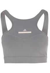 Adidas By Stella Mccartney Hiit Sports Bra Frogre Grey