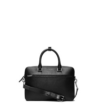 Michael Kors Harrison Small Leather Briefcase Black