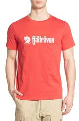Fjall Raven Men's Fj Llr Ven 'Retro' Organic Cotton Graphic T Shirt Red