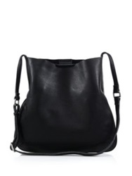 Christopher Kon Pebbled Leather Crossbody Bag Taupe Black
