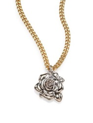 Marc By Marc Jacobs Jerrie Rose Pendant Necklace Gold Multi