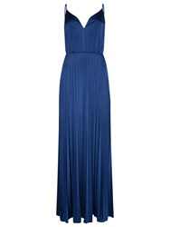 True Decadence Pleated Cami Maxi Dress Royal Blue