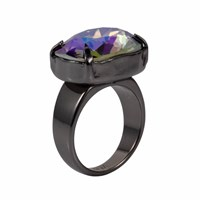 Nadia Minkoff Crystal H Ring Petrol Pink Purple
