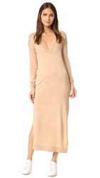 Designers Remix Aza V Neck Sweater Dress Light Beige