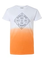 Topman Tan Faded Authentic Print Muscle Fit Roller T Shirt Yellow