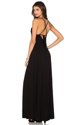 Bella Luxx Low Back Maxi Dress Black