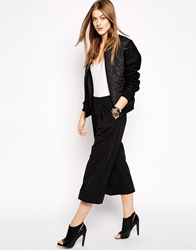 2Nd Day Cecilie Wide Leg Trousers Black