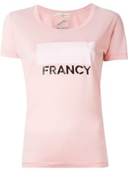 Golden Goose Deluxe Brand Francy Print T Shirt Pink And Purple