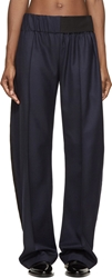 Paco Rabanne Navy Wide Leg Trousers