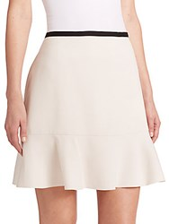 Two Tone Fit And Flare Skirt Off White