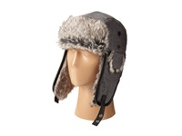 San Diego Hat Company Sdh2067 Faux Fur Trapper With Faux Leather Trim Grey Caps Gray