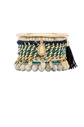 Samantha Wills Midnight Dahlia Bracelet Set Metallic Gold