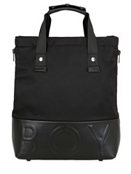 Boy London Leather And Nylon Tote Bag