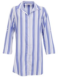 Cyberjammies Vienna Stripe Night Shirt Blue Multi