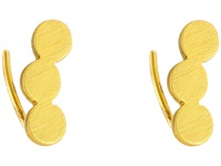Gorjana Matte Circle Ear Climber Earrings Gold Earring