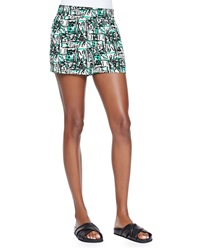 Pam And Gela Printed Elastic Waist Shorts Petite
