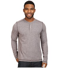 The North Face Long Sleeve Copperwood Henley Bittersweet Brown Heather Men's Clothing Gray