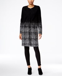 Styleandco. Style Co. Plaid Gradient Duster Cardigan Only At Macy's Deep Black Combo