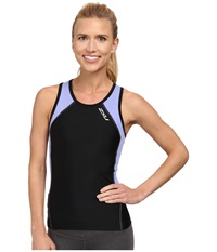 2Xu Perform Tri Singlet Black Amethyst Women's Workout