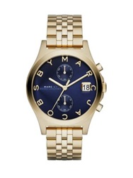 Marc By Marc Jacobs Slim Chrono Goldtone Stainless Steel Chronograph Bracelet Watch Blue Gold Navy