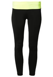 Drop Of Mindfulness Bow Tights Black Yellow