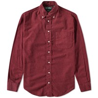 Gitman Brothers Vintage Solid Brushed Flannel Shirt Red