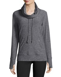 Balance Cozy Jersey Cowl Neck Top H. Grey 6
