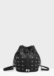 Mango Studded Bucket Bag Black
