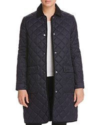 Barbour Border Long Quilted Coat 100 Bloomingdale's Exclusive Navy