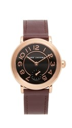 Marc Jacobs Riley Watch Rose Gold Black Dark Cherry