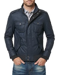 Buffalo David Bitton Jacat Waxed Jacket Midnight Blue