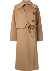 Le Ciel Bleu 'Handsome Wrap' Trench Coat Brown