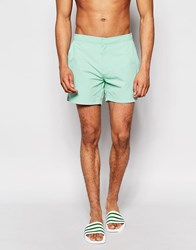 Threadbare Riviera Mint Swim Shorts Green