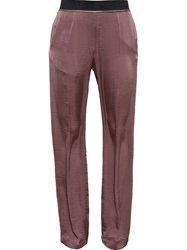 Haider Ackermann Fluid Wide Leg Trousers Pink And Purple