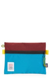 Topo Designs Accessory Bag Burgundy Turquoise