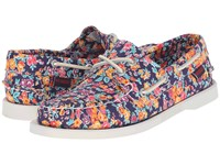 Sebago Dockside Tatum Print Women's Lace Up Casual Shoes Pink