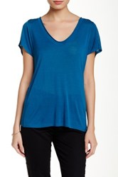 Inhabit Pointelle Tee Blue