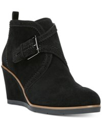 Franco Sarto Arielle Wedge Booties Women's Shoes Black