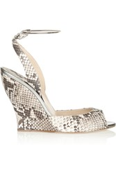 Paul Andrew Delphi Python Sandals Animal Print