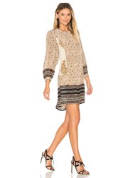 Stella Forest Crew Neck Long Sleeve Mini Dress Cream
